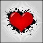 Heart Valentine Wallpaper — Stock Vector
