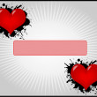 Valentines Day - frame with hearts — Vector de stock