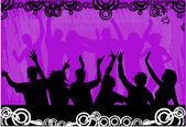 Grupo de dança — Vetor de Stock