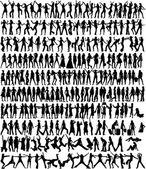 女性コレクション - 233 シルエット — ストックベクタ
