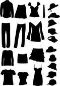 Dresses (women, man) , vector work — Stock Vector