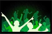 Let's Party , dancing — Stock Vector
