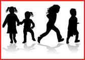 Kinder — Stockvektor