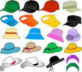 Vector Hats — Vettoriale Stock