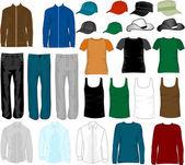 Shopping - fashion men's — Stock Vector