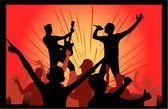 Concert, orange light — Stock Vector