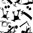 Fitness Vector Icons — Stock Vector