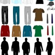 Royalty-Free Stock Vector Image: Men Dress Collection