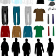 hommes robe collection — Image vectorielle