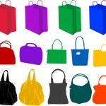 Hand-bag , vector work — Stock Vector