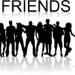 Friends - Stok Vektr