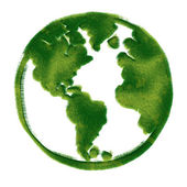 Globe illustration covered with grass — Stock Photo