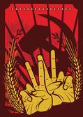 Soviet Poster Design — Stock Vector