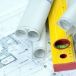 Construcion Plans - Stock Photo