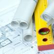 Construcion Plans — Stock Photo