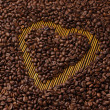 Coffee Heart Shape Background — Stock Photo