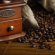 Stock Photo: Coffee Grinder and bag