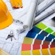 Foto Stock: Arranging and Building