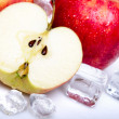 Icy Apples! — Stock Photo