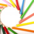 Stock Photo: Colored Pencils circle