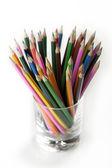 Colored Pencils in Mug — Stock Photo