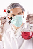 Scientist with equipment — Stock Photo