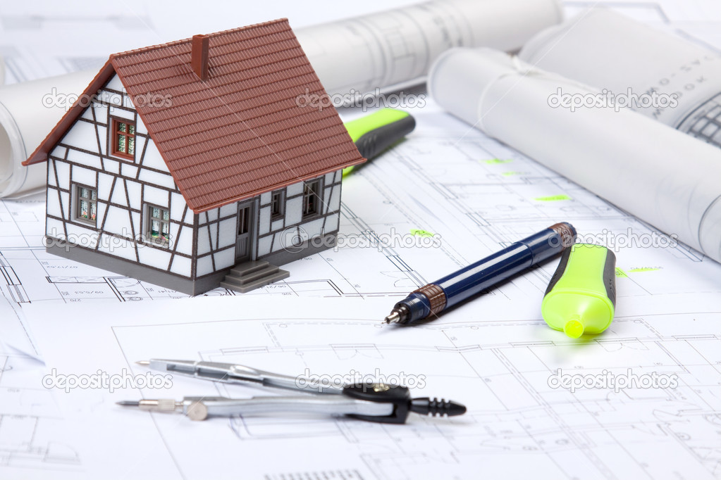 Construction Plans, keys and other! — Stock Photo #2061601