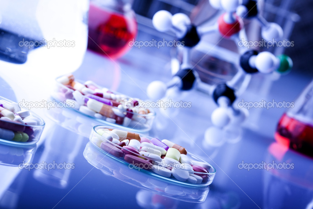 Drugs and Pills in laboratory — Stock Photo #2063249