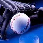 Baseball Ball and Glove — Stock Photo