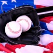 Baseball Balls and Glove - Stock Photo