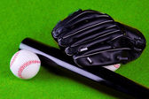 Baseball Balls and Glove — Stock Photo