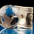 Stock Photo: World and Money
