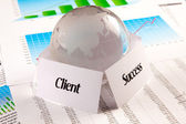 Client = Success — Stock Photo
