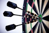 Ideal Shot on dart — Stock Photo