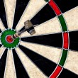 Stock Photo: Dartboard Perfect Hit