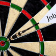 Dartboard Job Concept — Stock Photo