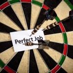Perfect Job and Dart — Stock Photo