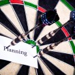 Royalty-Free Stock Photo: Planning on Dartboard