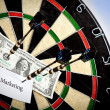 Stock Photo: Money / Marketing on bullseye