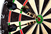 Dartboard Perfect Hit! — Stock Photo