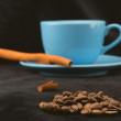 Stock Photo: Flavors of coffee- cinnamon aromatherapy