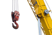 Rope- mobile crane — Stock Photo