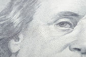 Franklin close-up banknotes — Foto Stock