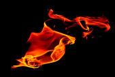 волна пламени — Стоковое фото