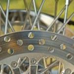 Wheel of motorcycle — Stock Photo #2213252