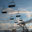 Ski lift chair — Stock Photo