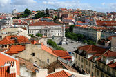 View of the square Lisboa, Portugal — Stock Photo