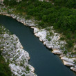 Ardeche canyon - Stock Photo