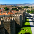 The famous city walls in Avila — Stock Photo