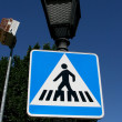 Pedestrian crossing Avila — Stock Photo